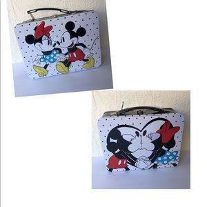 Minnie Mickey Mouse Tin Lunchbox Tote Disney